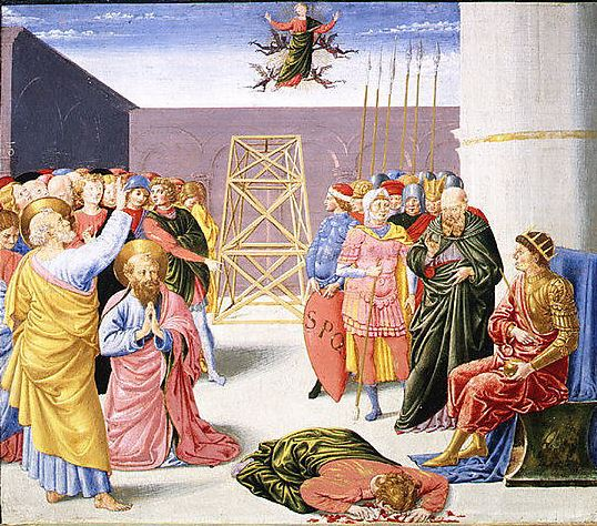 Saint Peter and Simon Magus Painting by Benozzo Gozzoli