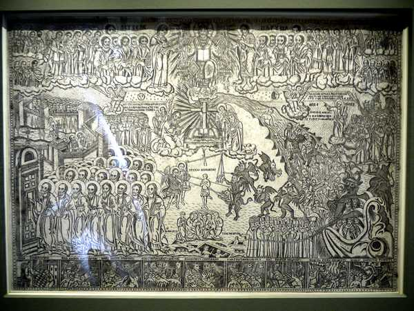 Mid 19th century engraving of the Last Judgment